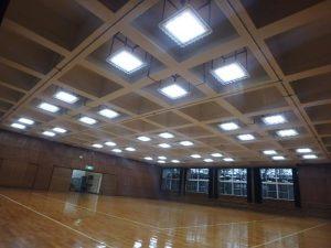 第五中学校外壁改修および武道場吊り天井撤去電気設備工事
